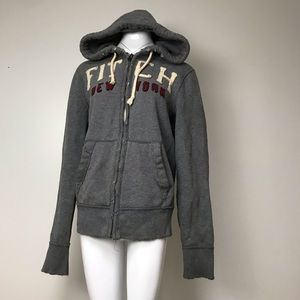 My Abercrombie & Fitch heavy grey zip up hoodie